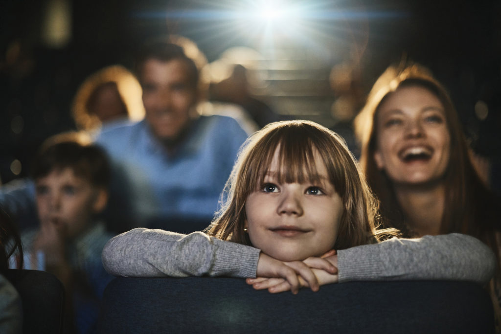 Family in the cinema