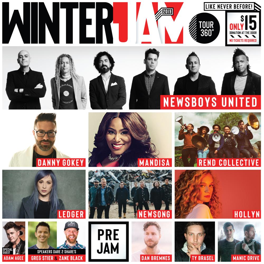 Winter Jam 2019 poster