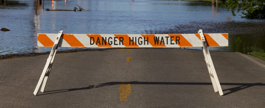 Street closure due to flood waters