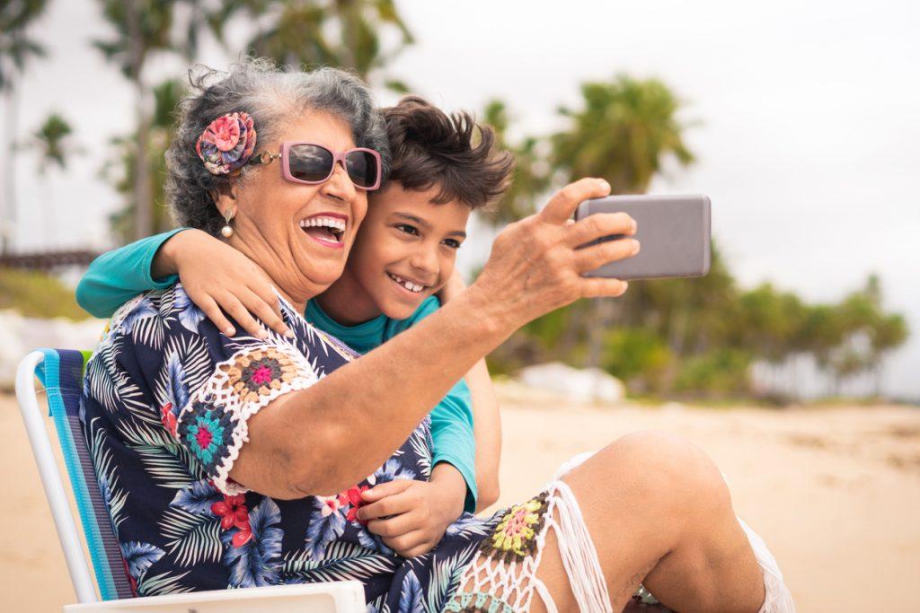 Senior Adult, Family, Grandmother, Women, Latin American and Hispanic Ethnicity