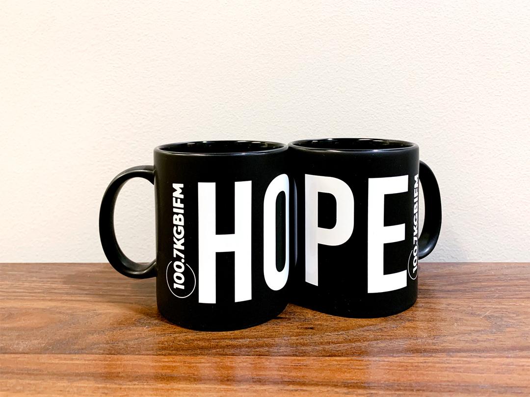 100.7 KGBI Hope mugs